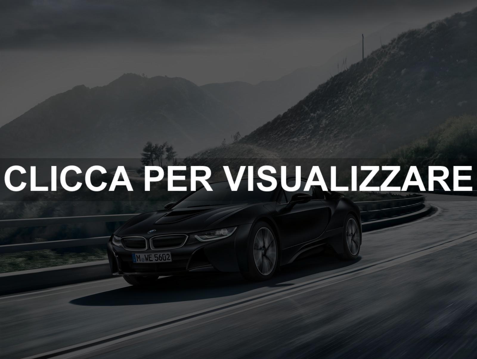 Nuova ibrida BMW i8 Frozen Black 2017