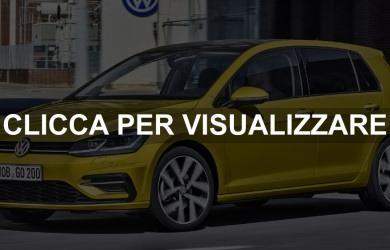 Promozioni nuova VW Golf 2017