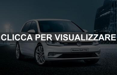 Promozione nuova Volkswagen Golf TGI a metano 2017