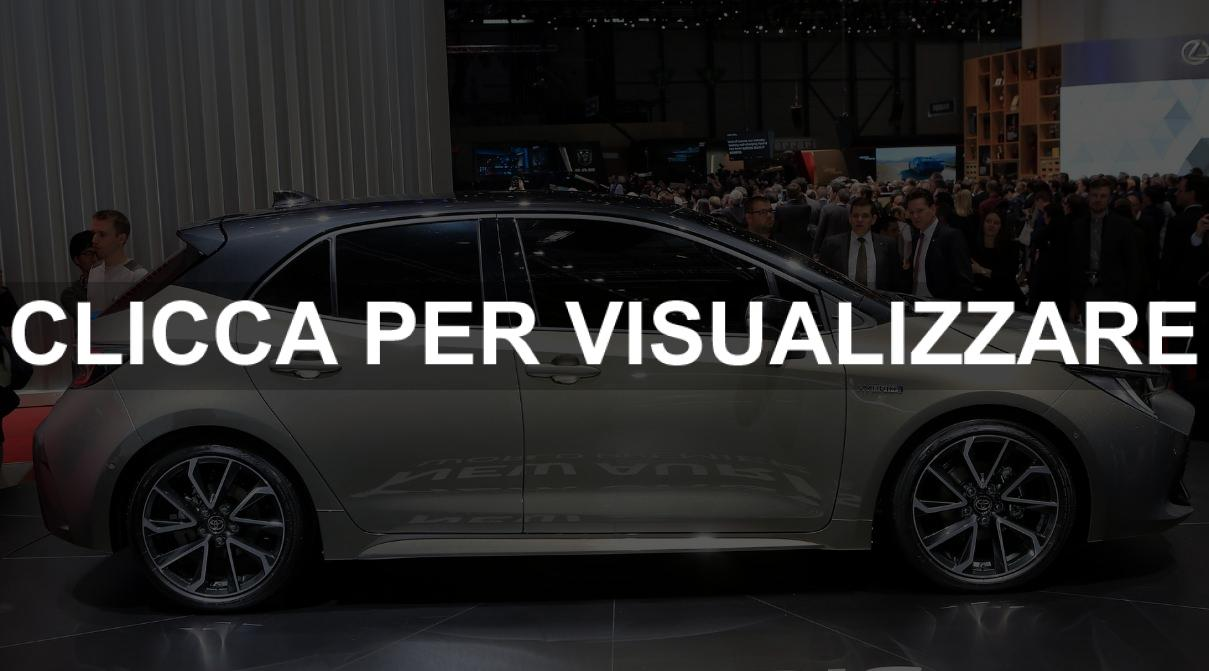Fiancata nuova Toyota Auris Hybrid al Salone di Ginevra 2018