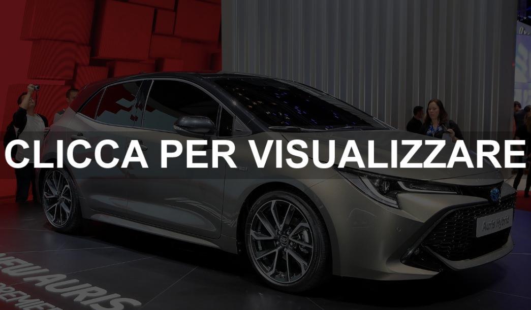 Nuova Auris Hybrid al salone di Ginevra 2018
