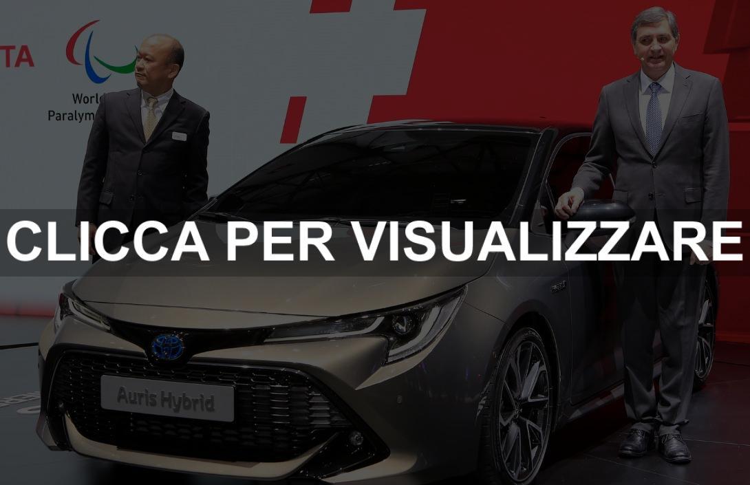 Nuova Toyota Auris Hybrid 2018 presentata al Salone di Ginevra