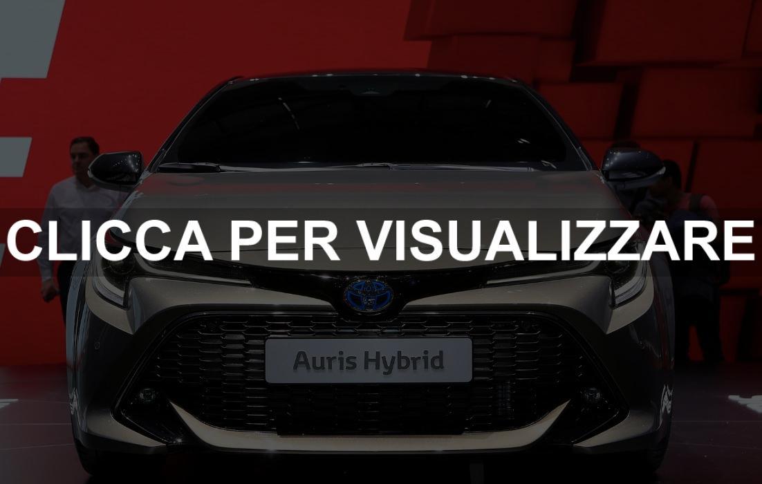 Nuova Toyota Auris Hybrid al salone di Ginevra 2018