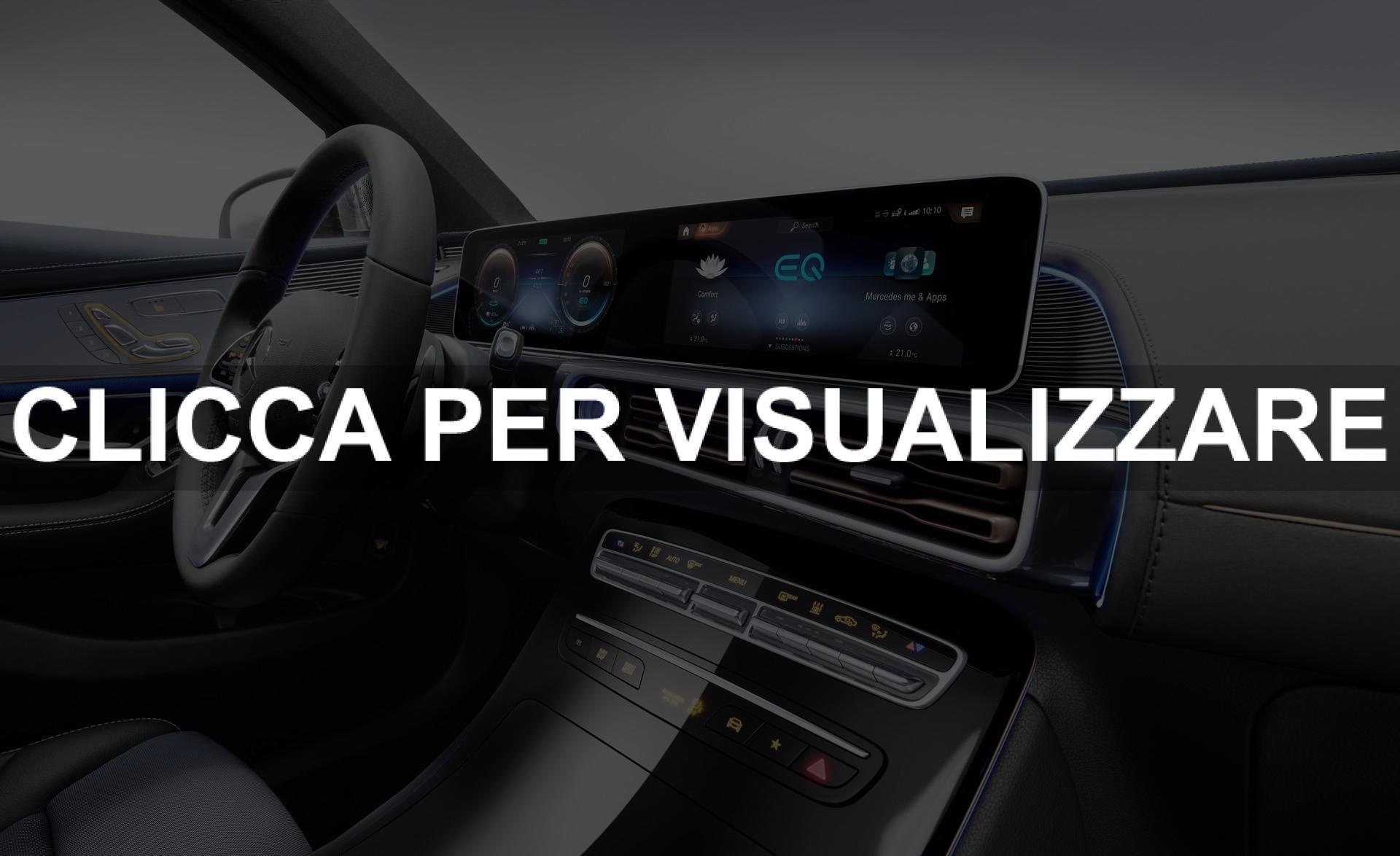 Immagine interni nuovo suv mercedes elettrico EQC 2019