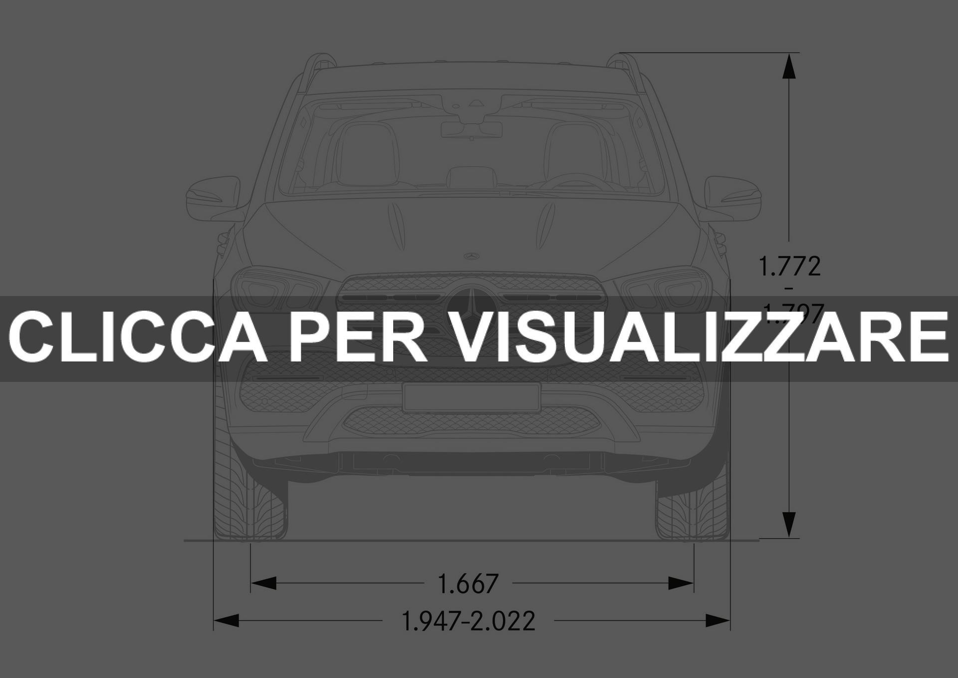 Dimensioni nuovo Mercedes GLE 2019