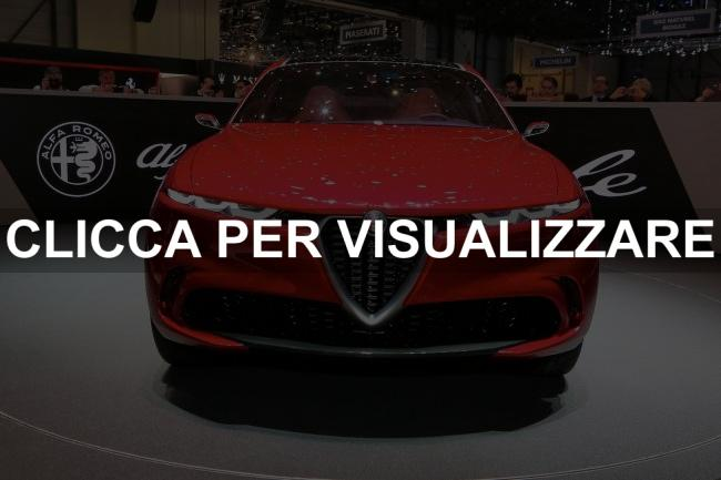 Frontale nuovo Suv Alfa Romeo Tonale 2019