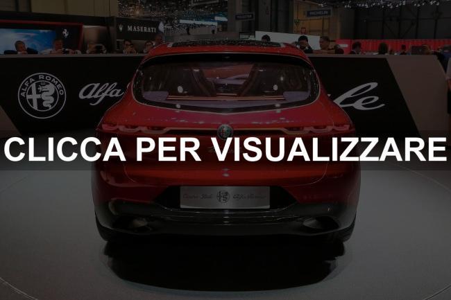 Immagine posteriore nuova Alfa Romeo Tonale Concept al Salone di Ginevra 2019