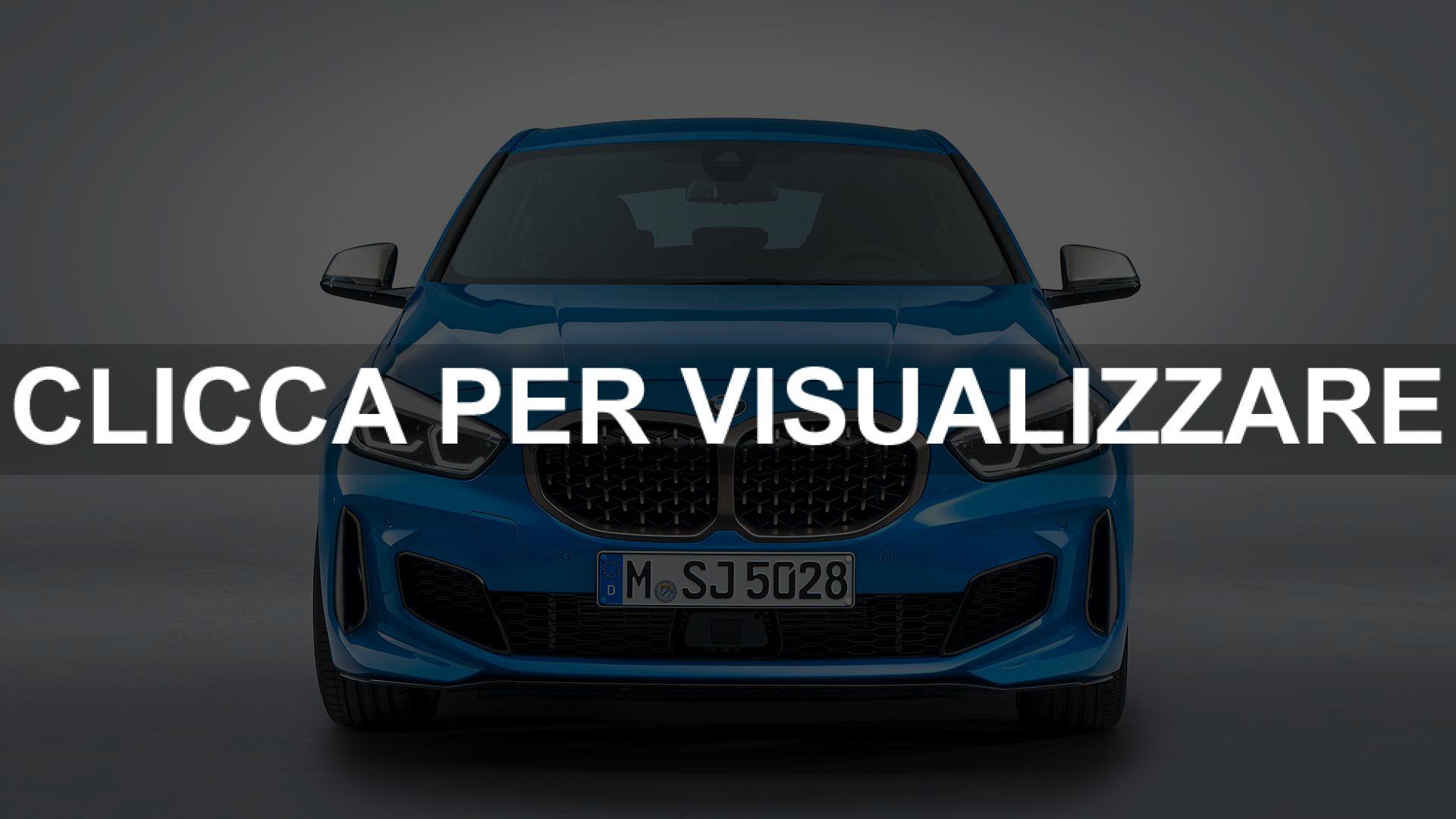 Immagine frontale nuova BMW serie 1 2019