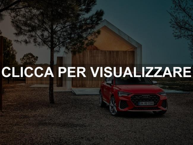 Immagine frontale nuova Audi RS Q3 2020