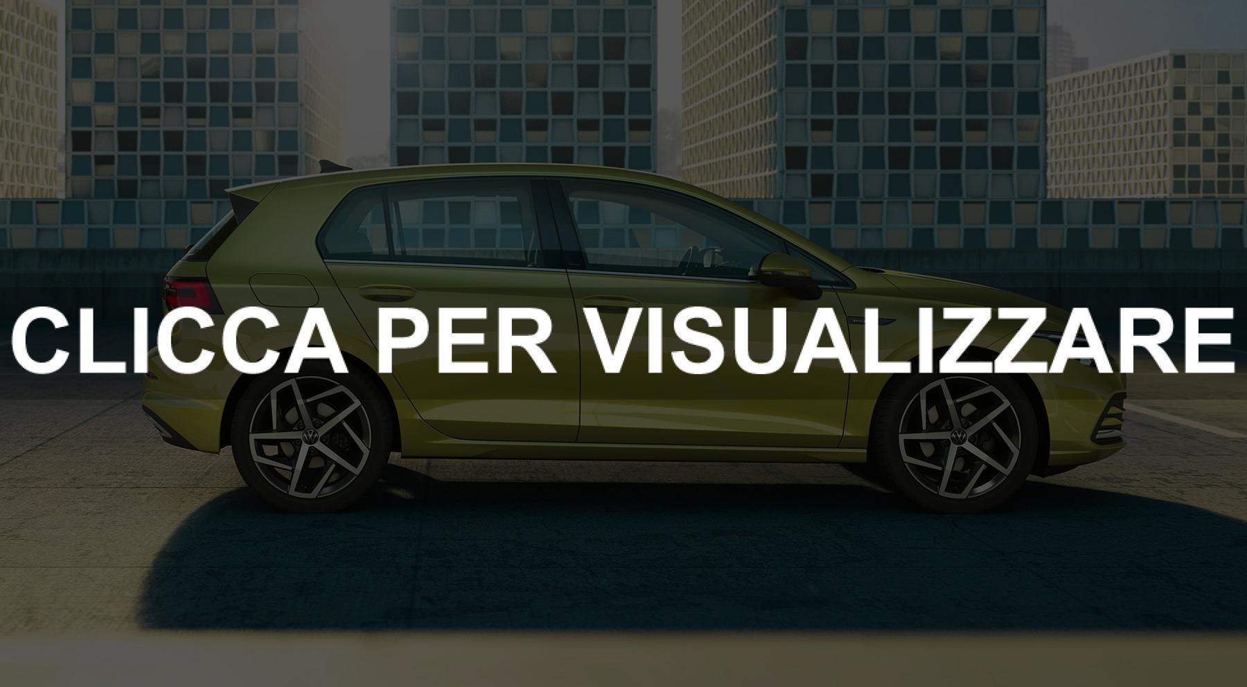 Immagine ufficiale fiancata nuova Volkswagen Golf 8 2020