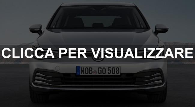 Immagine ufficiale frontale nuova Volkswagen Golf 8 2020