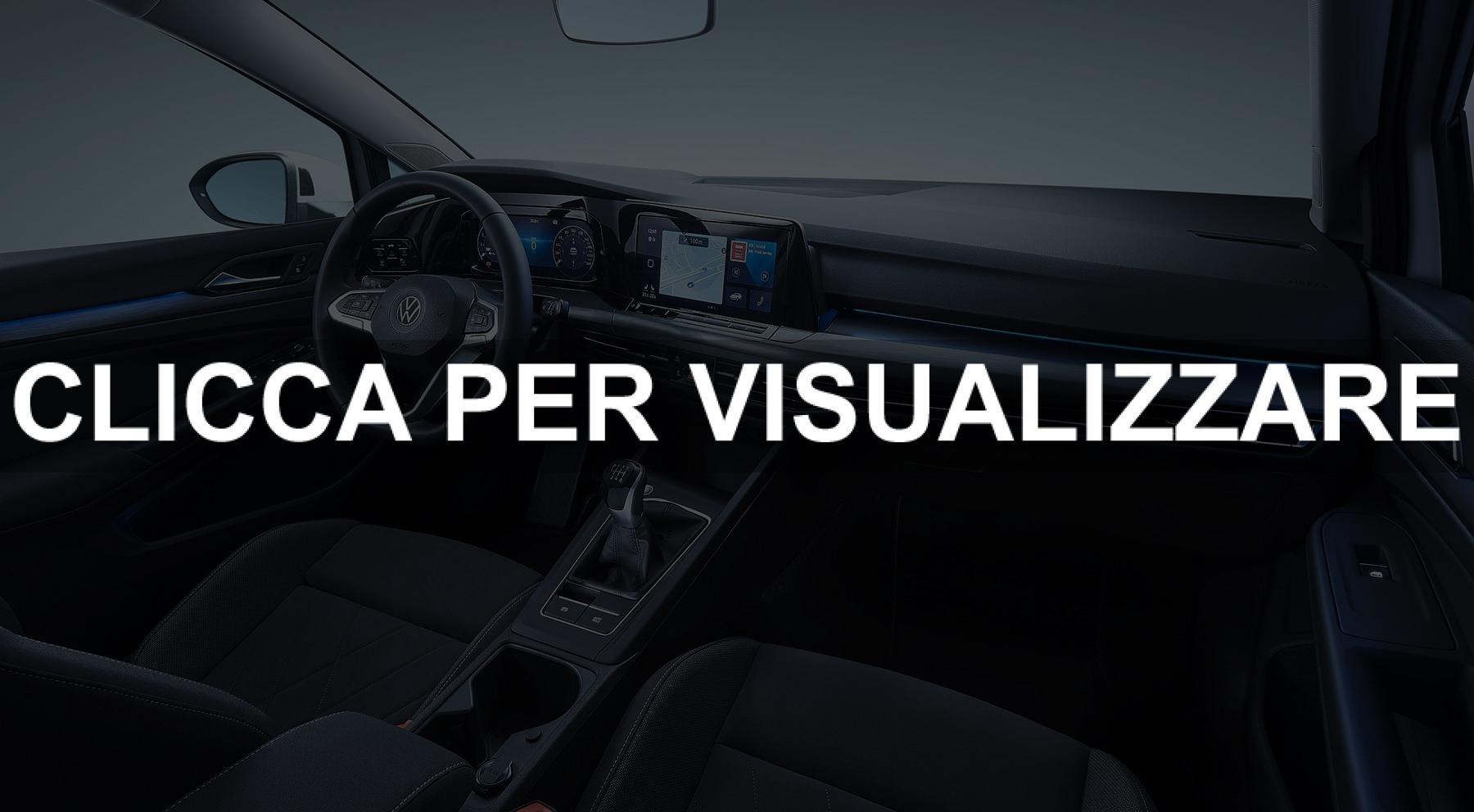 Immagine ufficiale interni nuova Volkswagen Golf 8 2020
