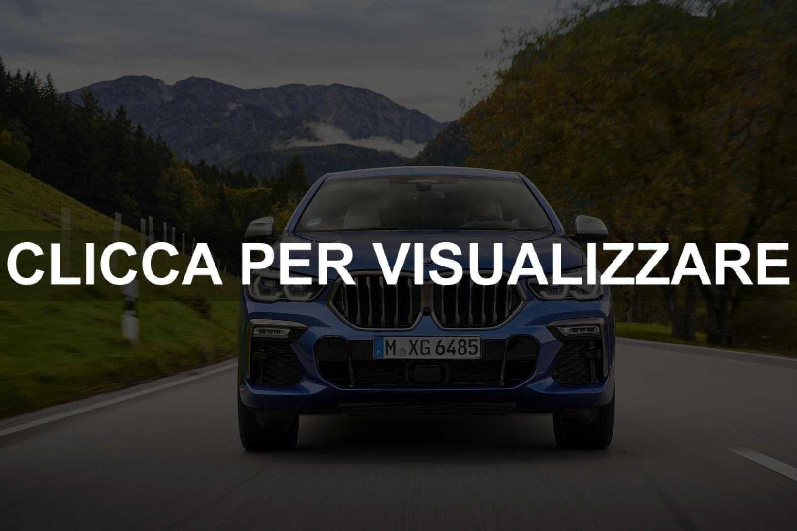 Immagine frontale nuova BMW X6 2020