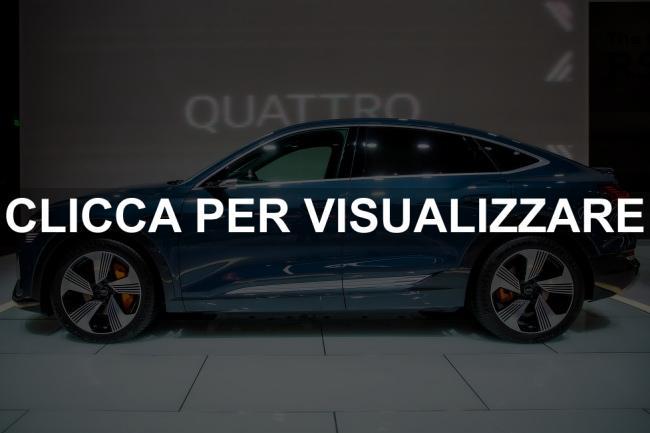 Fiancata nuova Audi e tron Sportback 2020