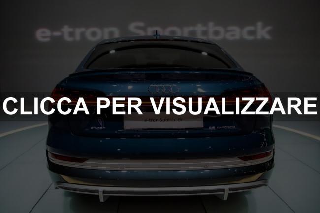 Posteriore nuova Audi e tron Sportback 2020