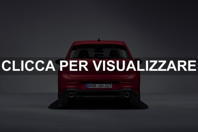 Immagine posteriore nuova Volkswagen Golf 8 GTI 2020