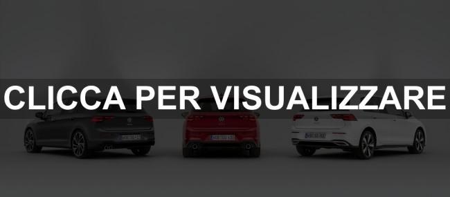 Immagini nuove Volkswagen Golf 8 GTD GTI GTE 2020
