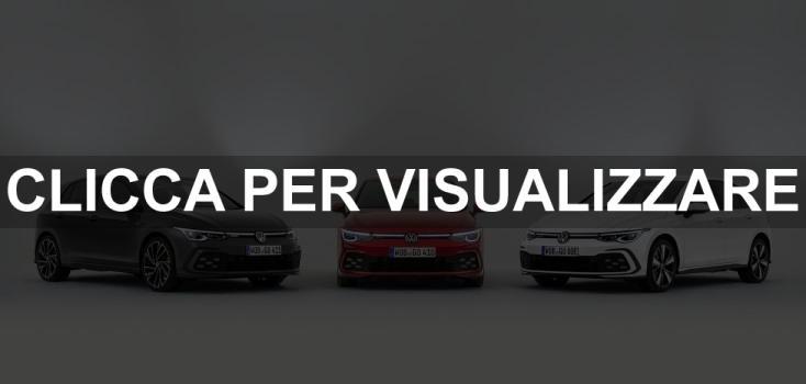 Nuove Volkswagen Golf 8 GTD GTI GTE 2020