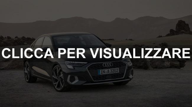 Immagine frontale nuova Audi A3 Sedan 2020