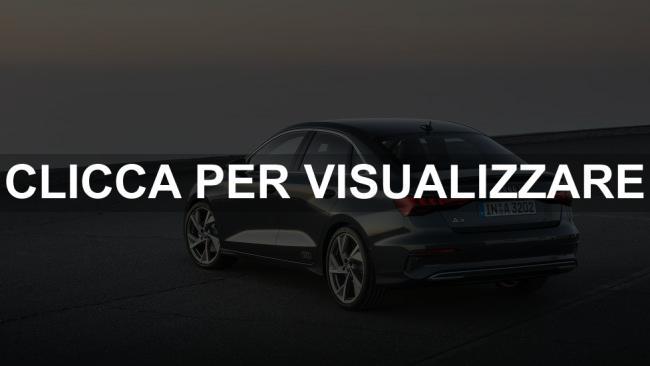 Immagine posteriore nuova Audi A3 Sedan 2020