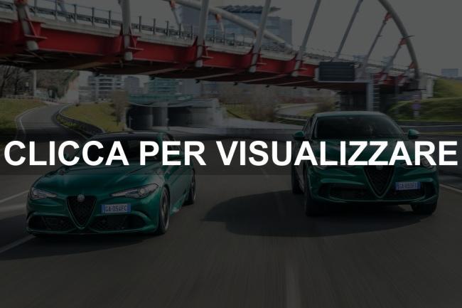 Immagini Alfa Romeo Stelvio e Giulia Quadrifoglio 2020