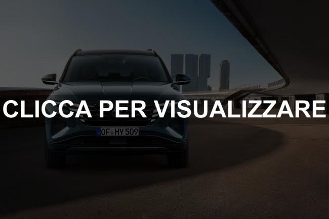 Immagine frontale nuova Hyundai Tucson 2021
