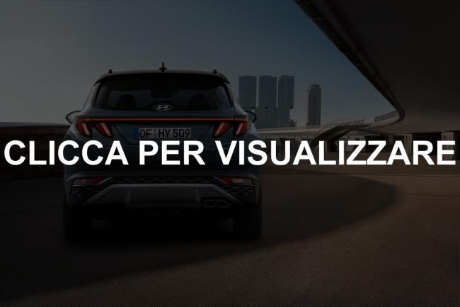 Immagine posteriore nuova Hyundai Tucson 2021