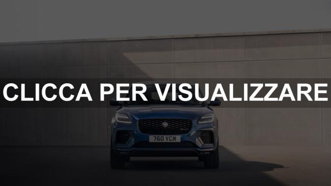 Immagine frontale nuova Jaguar E Pace 2021