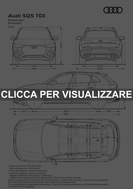 Dimensioni nuova Audi SQ5 2021 restyling