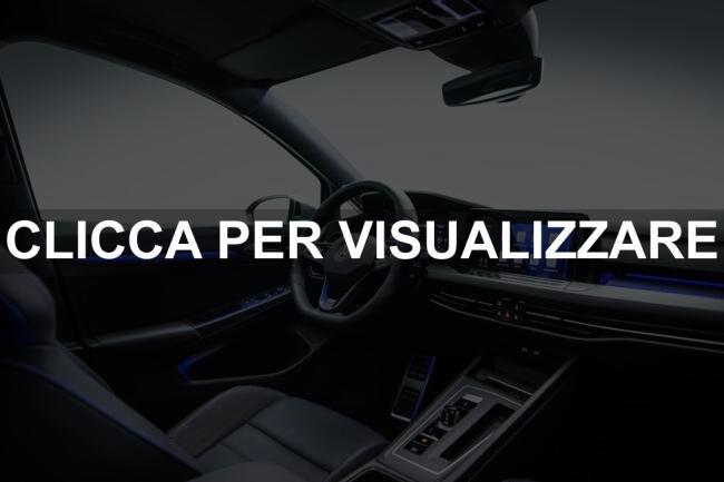 Foto interni nuova VW Golf R 2021