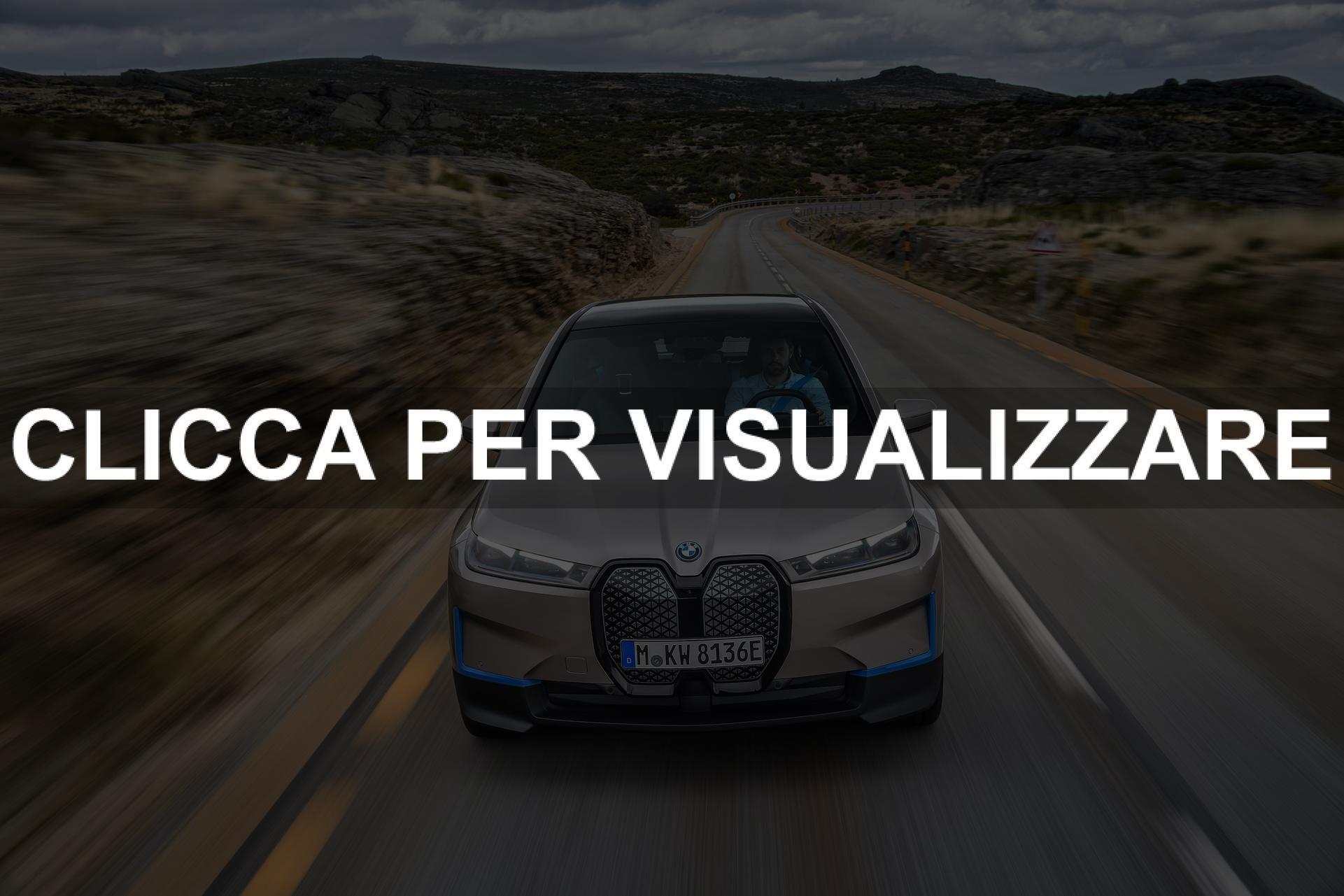 Frontale nuova BMW iX elettrica