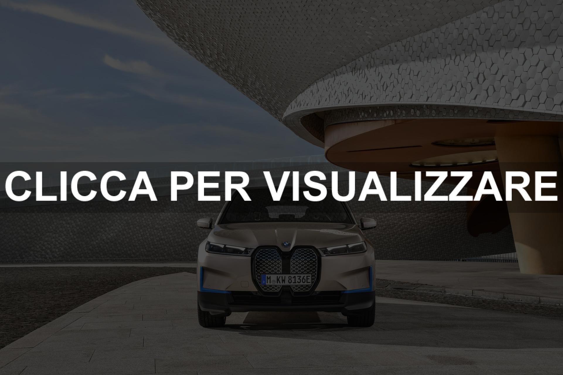 Immagine frontale nuova BMW iX elettrica 2021