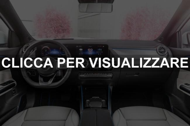 Immagine interni nuova Mercedes EQA 2021