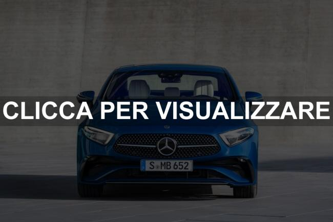 Immagine frontale nuova Mercedes CLS 2021