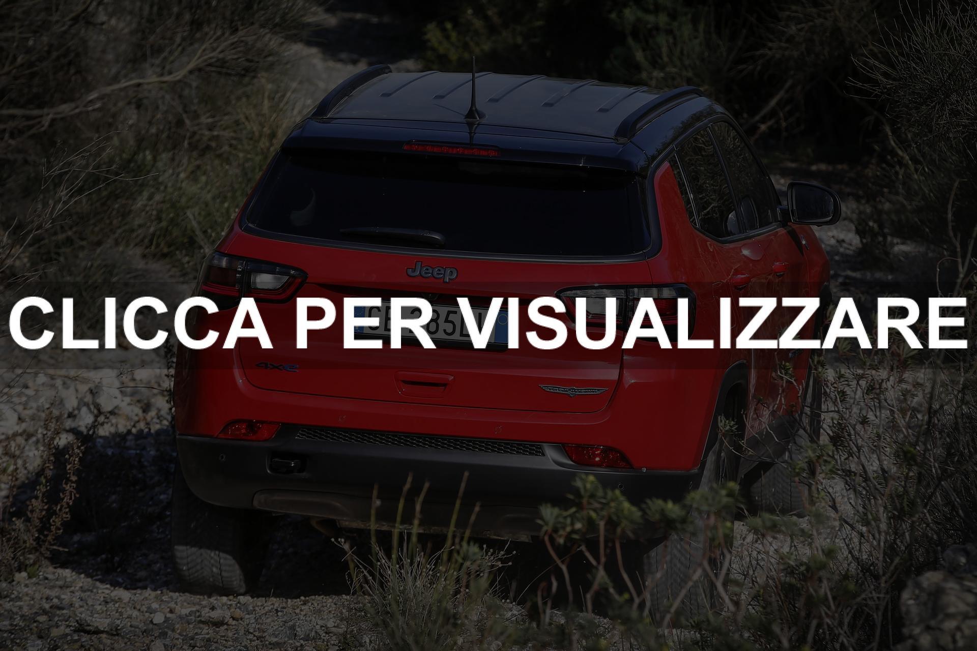 Immagine posteriore nuova Jeep Compass 2021 Restyling