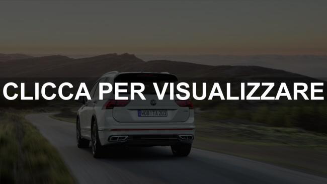 Immagine posteriore nuova Volkswagen Tiguan Allspace 2021